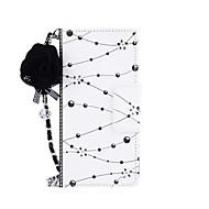 Недорогие Чехлы и кейсы для Galaxy S7-Кейс для Назначение SSamsung Galaxy S8 Plus S8 Бумажник для карт Кошелек со стендом Флип Магнитный С узором Своими руками Чехол Цветы