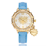 Women's Fashion Watch Chinese Quartz PU Band Heart shape Casual Black White Blue Red Gold Purple Rose Sky Blue