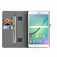 Case For Samsung Galaxy Tab E 8.0 Tab A 8.0 Card Holder Wallet with Stand Auto Sleep/Wake Up Full Body Solid Color Hard Faux Leather for
