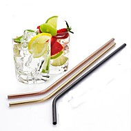 Event/Party Christmas Gifts Drinkware, # Stainless Steel Coffee Juice Milk Straws