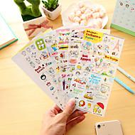 お買い得  ステッカー&テープ-6個/漫画豚日記ステッカー携帯電話ステッカースクラップブックステッカー
