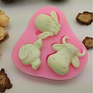 お買い得  キッチン用小物-ベークツール シリコーンゴム / シリカゲル 焦げ付き防止 / ベーキングツール / 3D クッキー / チョコレート / 調理器具のための ケーキ型 1個
