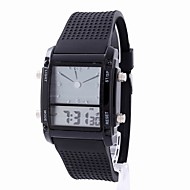 cheap Jewelry & Watches-Women's Digital Watch Chronograph LCD Noctilucent Rubber Band Analog-Digital Casual Fashion Elegant Black / White - White Black One Year Battery Life