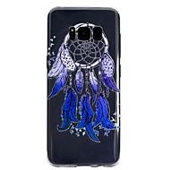 Недорогие Чехлы и кейсы для Galaxy S8-Кейс для Назначение SSamsung Galaxy S8 Plus S8 Прозрачный С узором Кейс на заднюю панель Ловец снов Мягкий ТПУ для S8 Plus S8