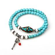abordables Turquoise-Bracelet à Perles Bracelets Plusieurs Tours Bracelet perles de Mala Femme Turquoise Turquoise dames Bohème Mode Bracelet Bijoux Turquoise Forme de Cercle pour Rendez-vous
