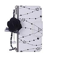 Недорогие Кейсы для iPhone 8-Кейс для Назначение Apple iPhone X / iPhone 8 Кошелек / Бумажник для карт / со стендом Чехол Цветы Твердый Кожа PU для iPhone X / iPhone 8 Pluss / iPhone 8 / Своими руками