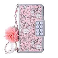 Недорогие Кейсы для iPhone 8-Кейс для Назначение Apple iPhone X iPhone 8 Бумажник для карт Кошелек со стендом Флип Магнитный С узором Чехол Цветы Твердый Кожа PU для