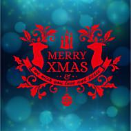 動物 クリスマス 文字 ウォールステッカー プレーン・ウォールステッカー 3D ウォールステッカー 飾りウォールステッカー ウェディングステッカー,ペーパー ビニール ホームデコレーション ウォールステッカー・壁用シール For 壁 ガラス/浴室