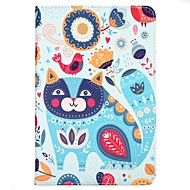 cheap iPad Accessories-Case For Apple iPad 10.5 iPad (2017) with Stand Flip Pattern Auto Sleep/Wake Up Full Body Cat Cartoon Animal Hard Textile for iPad pro