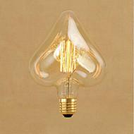 お買い得  白熱灯-1個 40W E26/E27 星形 温白色 2000 K 装飾用 白熱ビンテージエジソン電球 交流220から240 V
