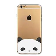Недорогие Кейсы для iPhone 8 Plus-Кейс для Назначение Apple iPhone 8 iPhone 8 Plus Защита от удара Полупрозрачный С узором Кейс на заднюю панель Панда Мягкий ТПУ для