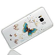 billige Samsung-tilbehør - nyheder-Etui Til Samsung Galaxy S8 Plus S8 IMD Mønster Bagcover Sommerfugl Glitterskin Blødt TPU for S8 Plus S8 S7 edge S7