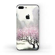 Недорогие Защитные плёнки для экрана iPhone-1 ед. Наклейки для Защита от царапин дерево Узор Матовое стекло PVC iPhone 7 Plus