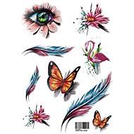 tanie -Tymczasowe tatuaże ramię romantyczna seria 3d wodoodporne tatuaże naklejki nietoksyczny brokat duży fałszywy tatuaż biżuteria ciała