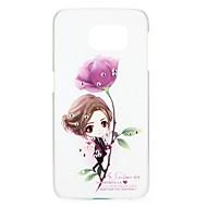 tanie Samsung: Nowości-Kılıf Na Samsung Galaxy Stras Wzór Etui na tył Seksowna dziewczyna Rysunek Kwiaty Twarde PC na S6 edge S6