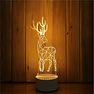 1 sarja 3d tunnelma yövalo käsi tunne himmennettävä usb powered gift lampun hirvieläimet