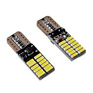 Недорогие Внешние огни для авто-10 шт. Лампы 4.8W SMD 4014 24 Внешние осветительные приборы For Универсальный Все модели Все года