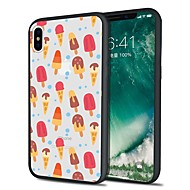 Недорогие Кейсы для iPhone 8 Plus-Кейс для Назначение Apple iPhone X / iPhone 8 Plus С узором Кейс на заднюю панель Плитка / Продукты питания Мягкий ТПУ для iPhone X / iPhone 8 Pluss / iPhone 8