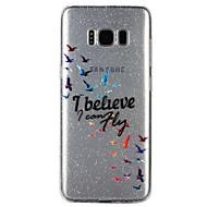 Недорогие Чехлы и кейсы для Galaxy S7-Кейс для Назначение SSamsung Galaxy S8 S7 Полупрозрачный С узором Рельефный лакировка Кейс на заднюю панель Слова / выражения Сияние и