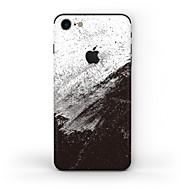 Недорогие Защитные плёнки для экрана iPhone-1 ед. Наклейки для Защита от царапин Черный и белый Узор Матовое стекло PVC iPhone 7
