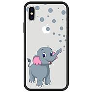 Недорогие Кейсы для iPhone 8-Кейс для Назначение Apple iPhone X iPhone 8 Plus С узором Кейс на заднюю панель Слон Животное Мягкий ТПУ для iPhone X iPhone 8 Pluss