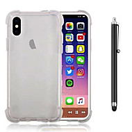 abordables Súperoferta de Precios Locos-Funda Para Apple iPhone X iPhone 8 Plus Antigolpes Transparente Funda Trasera Color sólido Suave TPU para iPhone X iPhone 8 Plus iPhone 8
