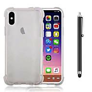 abordables Súperoferta de Precios Locos-Funda Para Apple iPhone X / iPhone 8 Plus Antigolpes / Transparente Funda Trasera Un Color Suave TPU para iPhone X / iPhone 8 Plus / iPhone 8