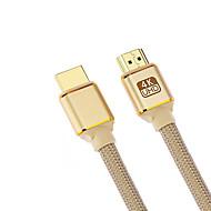 billige Tilbehør til datamaskin og nettbrett-Cwxuan HDMI 2.0 Kabel, HDMI 2.0 to HDMI 2.0 Kabel Hann - hann 4K*2K Forgylt kobber 1.8M (6ft)