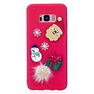 Недорогие Чехлы и кейсы для Galaxy S7-Кейс для Назначение SSamsung Galaxy S8 Plus S8 С узором Своими руками Кейс на заднюю панель Рождество Мягкий ТПУ для S8 Plus S8 S7