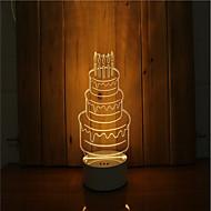 olcso LED éjszakai világítás-1 készlet a 3d hangulat éjszakai fény kéz érzés dimmable usb powered ajándék lámpa születésnapi torta