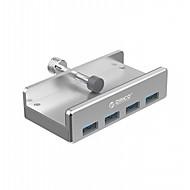 preiswerte USB Hubs & Switches-orico mh4pu aluminium 4 ports usb 3.0 clip-typ hub für desktop laptop clip bereich 10-32mm mit 100cm datum kabel - silber