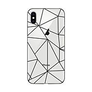 abordables Liquidación-Funda Para Apple iPhone X / iPhone 8 Plus Transparente / Diseños Funda Trasera Diseño Geométrico Suave TPU para iPhone X / iPhone 8 Plus / iPhone 8
