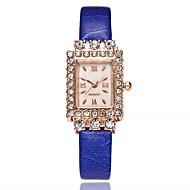 voordelige Modieuze horloges-Dames Modieus horloge Chinees Kwarts imitatie Diamond Leer Band Informeel minimalistische Zwart Wit Blauw Rood Bruin Roze Paars roze