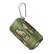 お買い得  スピーカー-NOGO F5mini 屋外 Bluetoothスピーカー ミニスタイル FMラジオ ハンドフリーコール 軽くて便利な ブルートゥース 4.0 マイクロUSB 3.5mm AUX TFカードスロット アウトドアスピーカー ブラック オレンジ 迷彩色