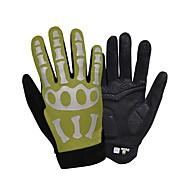 billiga -SPAKCT Cykelhandskar Reflekterande Andningsfunktion Anti-halk Svettavvisande Handske för touchskärm Aktivitet/Sport Handskar Bergscykling Svart Blå / Svart Guld+Svart Dödskalle för Vuxna Utomhus