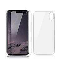 Недорогие Защитные плёнки для экрана iPhone-Защитная плёнка для экрана Apple для Закаленное стекло 2 штs Защитная пленка для экрана и задней панели Самозаживление Против отпечатков