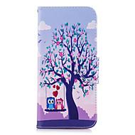 Недорогие Чехлы и кейсы для Galaxy S7 Edge-Кейс для Назначение SSamsung Galaxy S9 S9 Plus Бумажник для карт Кошелек со стендом Флип С узором Чехол дерево Сова Твердый Кожа PU для