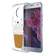 お買い得  携帯電話ケース-ケース 用途 Motorola E4 Plus 5 パターン バックカバー 食べ物 ソフト TPU のために Moto X4 Moto E4 Plus Moto E4