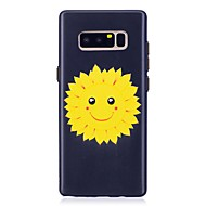 Недорогие Чехлы и кейсы для Galaxy Note 8-Кейс для Назначение SSamsung Galaxy Note 8 С узором Рельефный Цветы Мягкий для