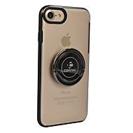 Недорогие Кейсы для iPhone 8-Кейс для Назначение Apple iPhone 8 iPhone 8 Plus Кольца-держатели Сплошной цвет Твердый для