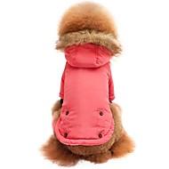 cheap Pet Supplies-Cat Dog Shirt / T-Shirt Sweatshirt Hoodie Dog Clothes Solid Colored Pink Nylon fiber Cotton Fabric Costume For Pets Men's Women's Stylish