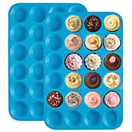 お買い得  キッチン用小物-ケーキ型 円形 キャンディのための ケーキのための パン用 Cupcake シリカゲル DIY 新年 クリエイティブキッチンガジェット ベーキングツール