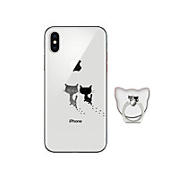 Case For Apple iPhone X iPhone 8 Plus with Stand Back Cover Cat Soft TPU for iPhone X iPhone 8 Plus iPhone 8 iPhone 7 Plus iPhone 7
