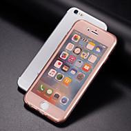 Недорогие Кейсы для iPhone 8 Plus-Назначение iPhone 8 Plus iPhone 7 iPhone 7 Plus iPhone 6 iPhone 6 Plus Чехлы панели Прозрачный Чехол Кейс для Сплошной цвет Мягкий