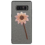 Недорогие Чехлы и кейсы для Galaxy Note 8-Кейс для Назначение SSamsung Galaxy Note 8 С узором Пейзаж Цветы Мягкий для