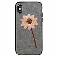 Недорогие Кейсы для iPhone 8-Кейс для Назначение Apple iPhone X iPhone 8 Матовое С узором Задняя крышка Цветы Мягкий Искусственная кожа для iPhone X iPhone 8 Pluss