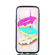 Недорогие Чехлы и кейсы для Galaxy J7(2017-Кейс для Назначение SSamsung Galaxy J7 (2017) J5 (2017) Прозрачный С узором Кейс на заднюю панель Продукты питания Твердый ТПУ для J7