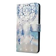 Недорогие Чехлы и кейсы для Galaxy А-Кейс для Назначение SSamsung Galaxy A8 2018 A8 Plus 2018 Бумажник для карт Кошелек со стендом Флип Магнитный С узором Чехол Ловец снов