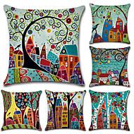 cheap Home Textiles-6 pcs Cotton/Linen Pillow Cover, Botanical Bohemian Style Retro