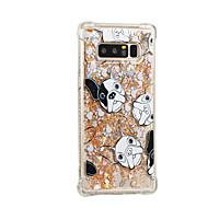 tanie Etui / Pokrowce do Samsunga Galaxy Note-Kılıf Na Samsung Galaxy Note 8 Z płynem Wzór Czarne etui Pies Połysk Miękkie TPU na Note 8